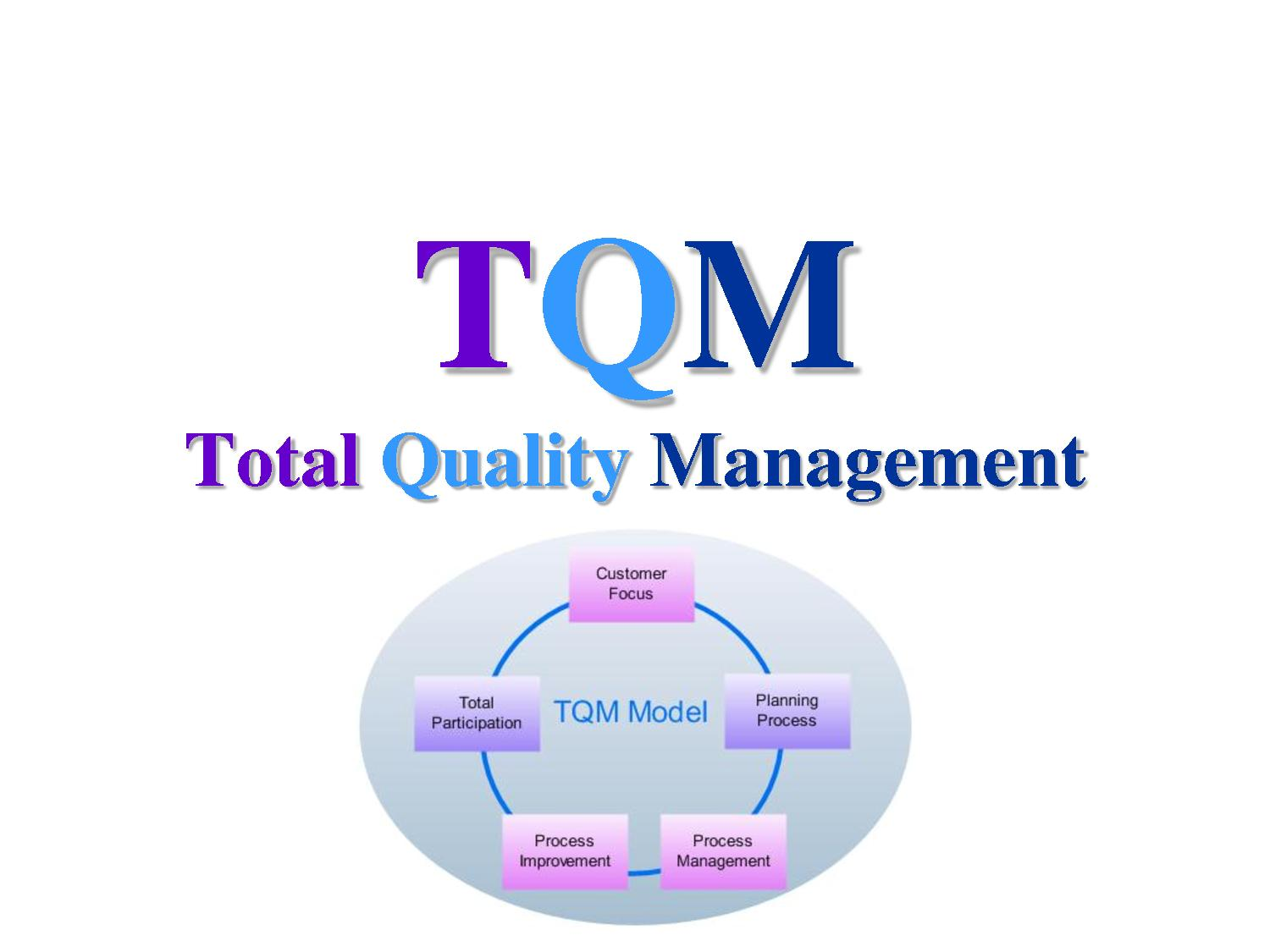concepts quality management Total quality management originated in the industrial sector of japan (1954)  since that time the concept has been developed and can be used for almost all.